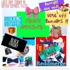 50% off entire bundle of 3 items or MORE !!